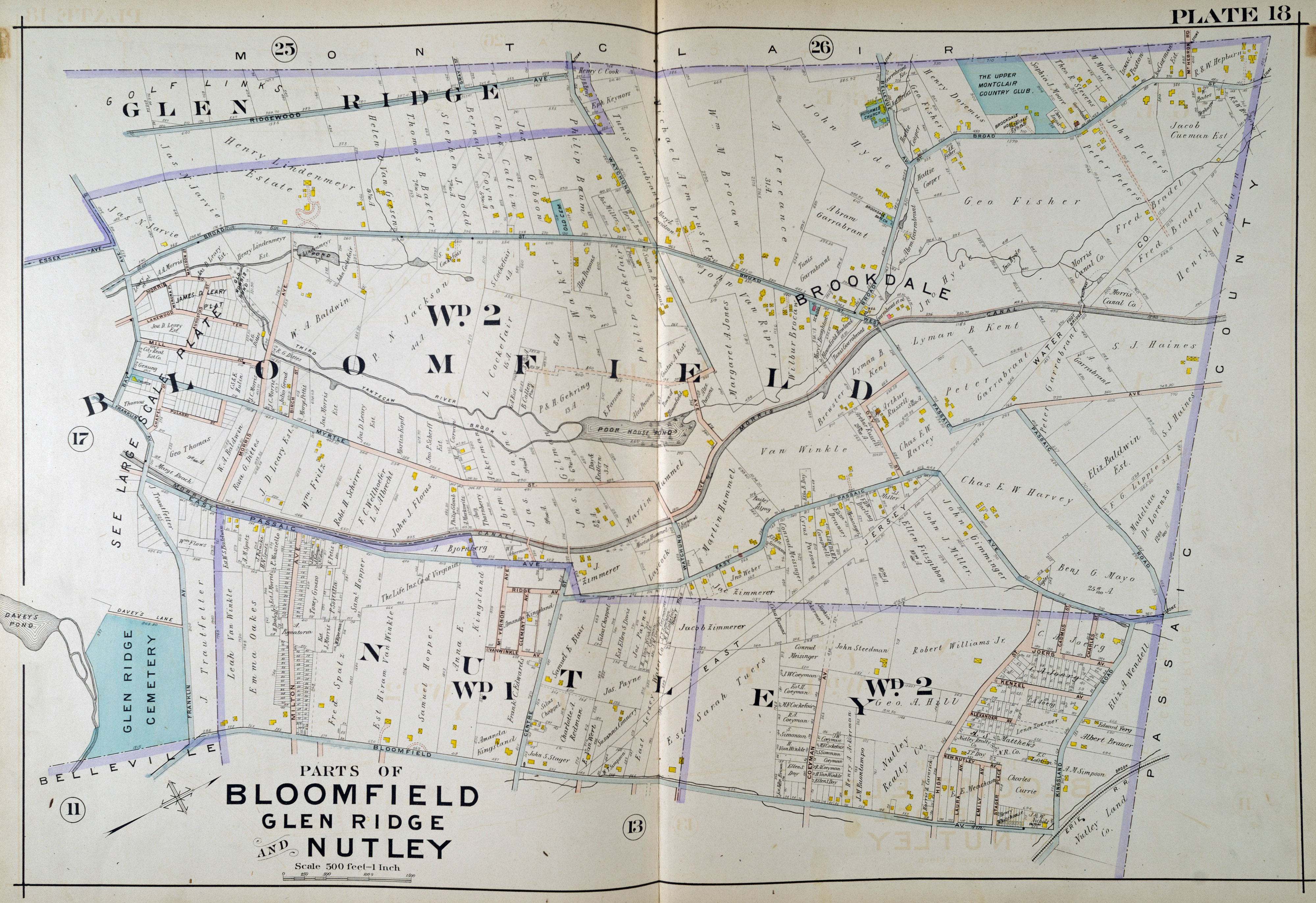 Historic Maps Of Bloomfield New Jersey Historical Society Of Bloomfield